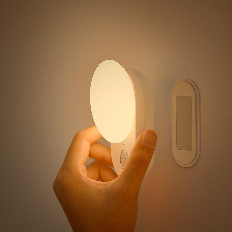 Baseus Mini Induction LED Night Light Full Moon Sensor Control Night Light Lamp for Children Kids Living Room Bedroom Lighting