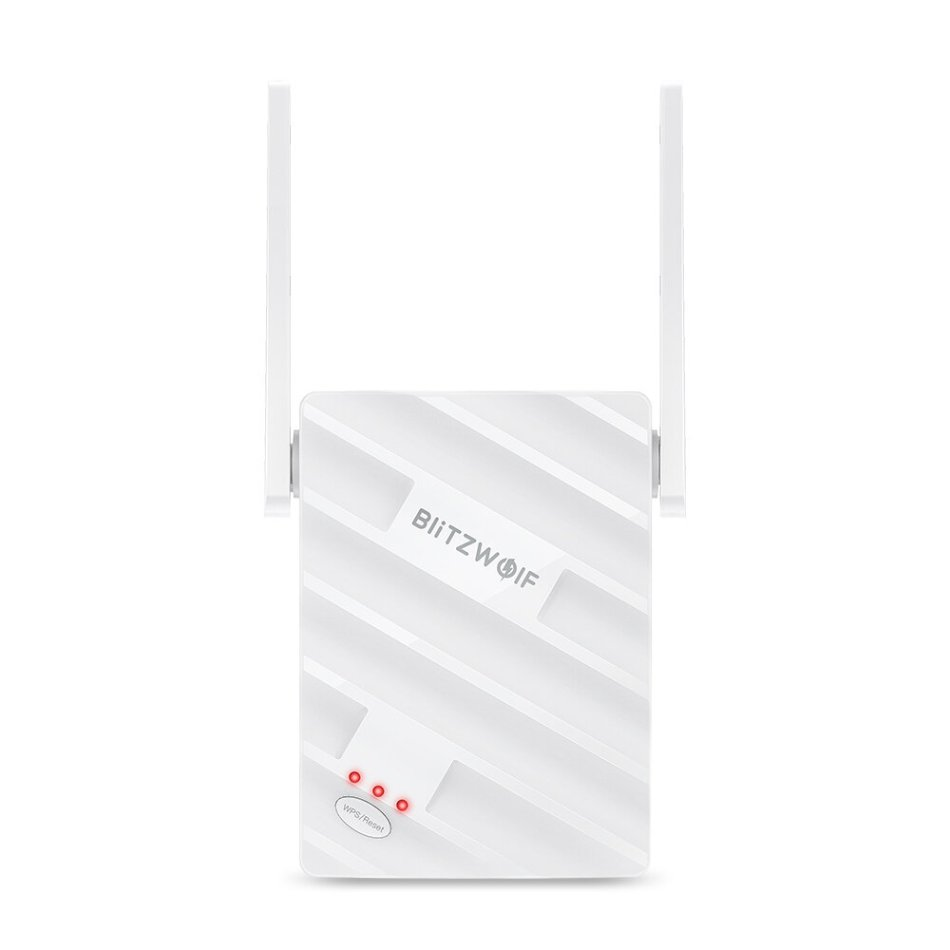 BlitzWolf® BW-NET3 Wireless Repeater Dual Band 1200Mbps Wireless Range Extender Supports 64 Devices Portable WiFi Signal Amplifier