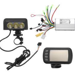 24v36v48v250w350w motor brushless controller lcd display front light for e bike bicycle mtb model a 24v 250w cod [ 1000 x 1000 Pixel ]