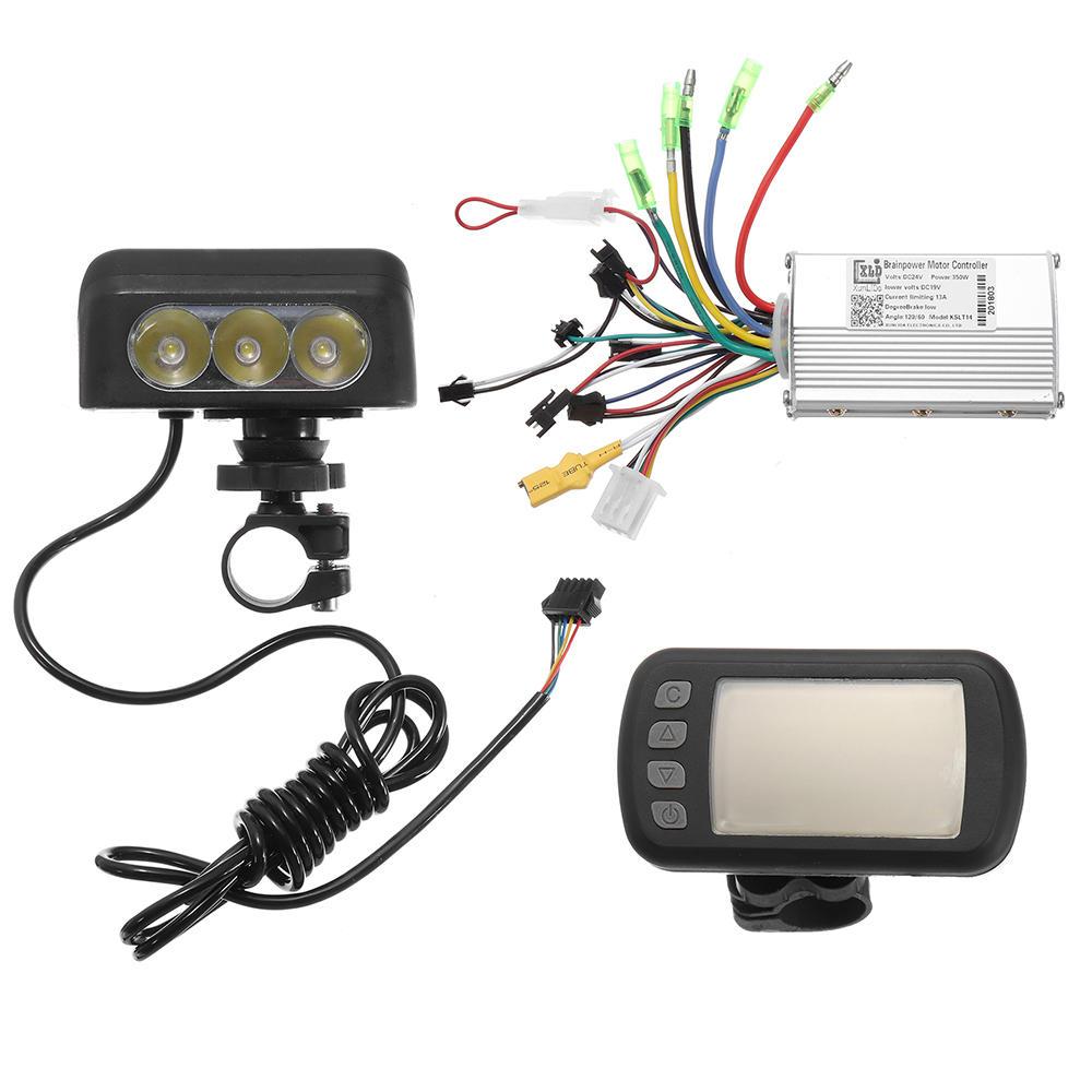 medium resolution of 24v36v48v250w350w motor brushless controller lcd display front light for e bike bicycle mtb model a 24v 250w cod