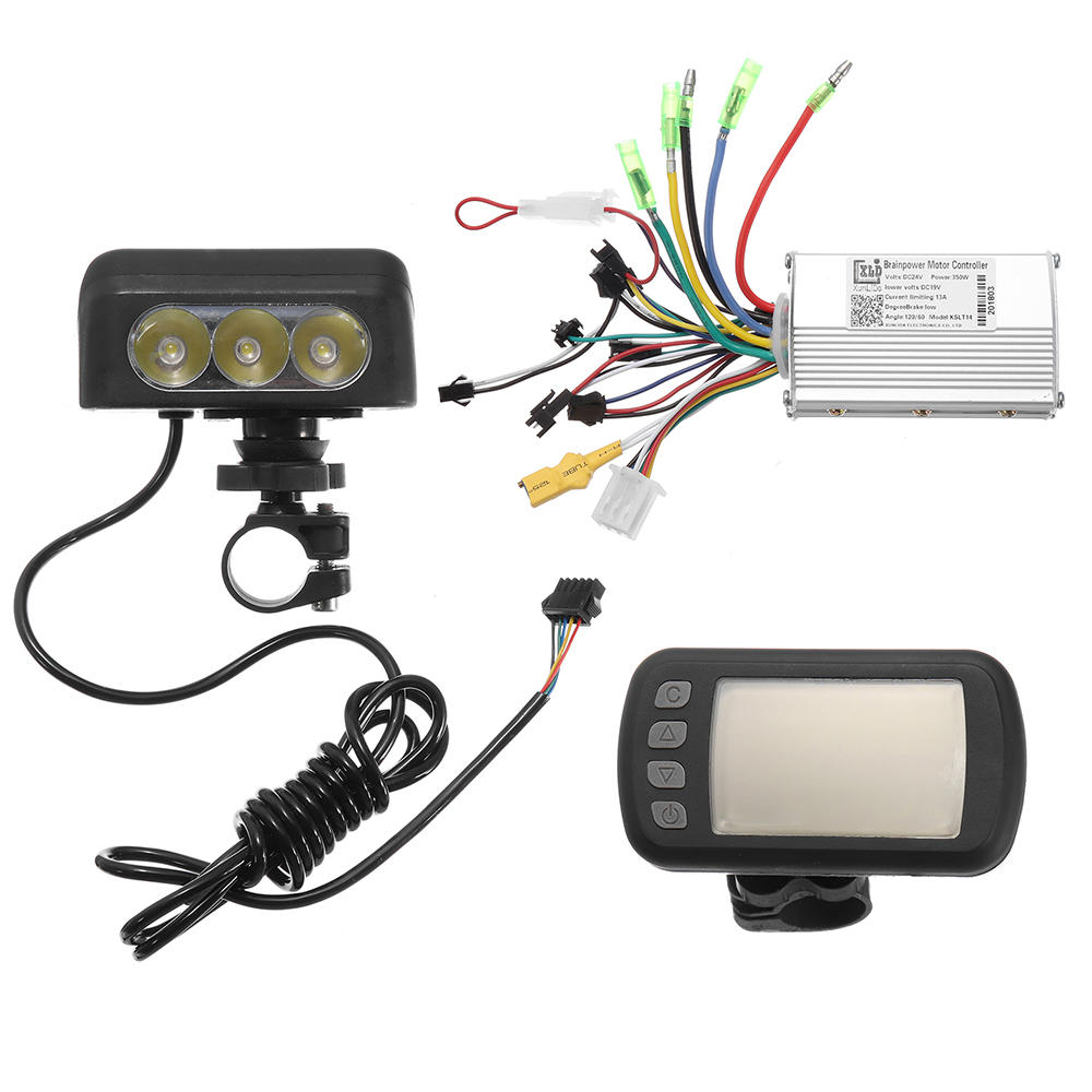 hight resolution of 24v36v48v250w350w motor brushless controller lcd display front light for e bike bicycle mtb model a 24v 250w cod