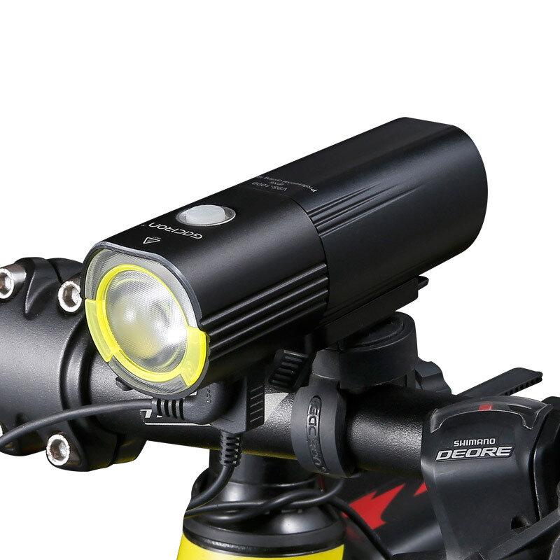GACIRON V9S 1000LM 4500mAh Bike Headlight IPX6 Waterproof Power Bank 6 Modes Lights Electric Scooter MTB Road Bike Lights