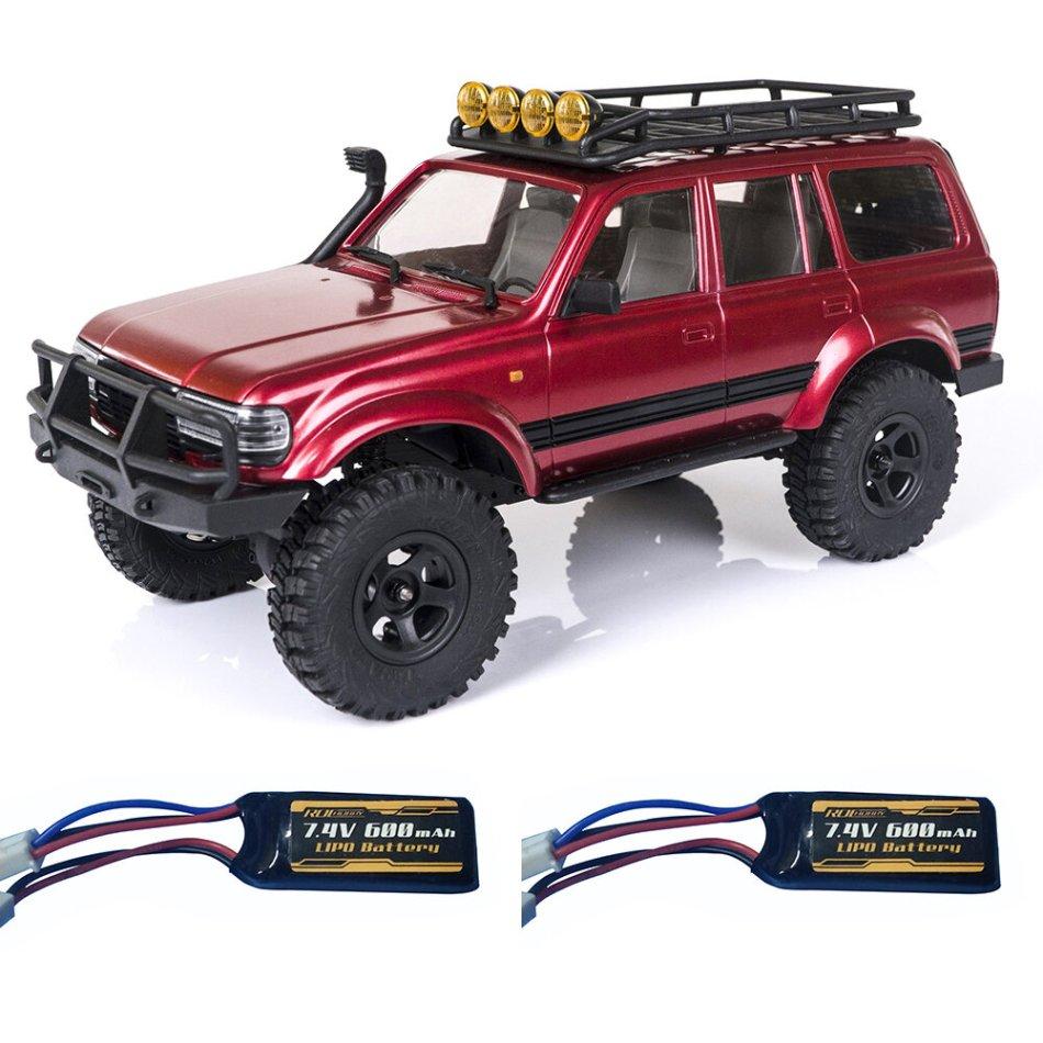 ROCHOBBY 1/18 2.4G Katana Waterproof Crawler RC Car Vehicle Models RTR Two Battery
