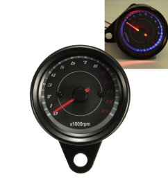 13000 rpm motorcycle red blue led tachometer speedometer gauge universal cod [ 1200 x 1200 Pixel ]