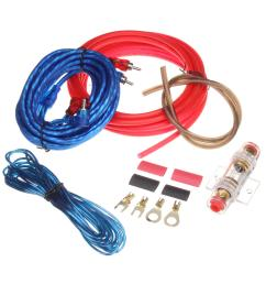 car audio subwoofer sub amplifier amp rca wiring kit power audio cable 10ga 4 5m cod [ 1200 x 1200 Pixel ]
