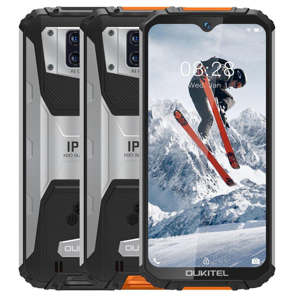 OUKITEL WP6 Global Version 6.3 inch FHD+ IP68/IP69K Waterproof 10000mAh Android 9.0 16MP Triple Rear Camera 4GB 128GB Helio P60 4G Smartphone