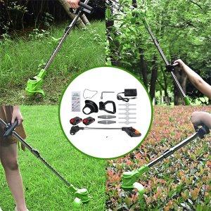 Στα 69,91€ τελική τιμή με τα μεταφορικά από αποθήκη Κίνας   36VDC Electric Weeder Cordless String Trimmer Weed Eater Lawn Wacker Edger Grass Garden