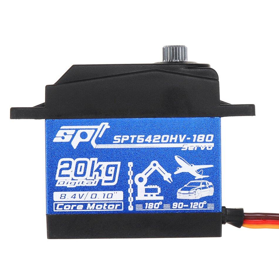 SPT Servo SPT5420HV-180 20kg High Voltage High Speed Digital Servo for RC Airplane Robot Car