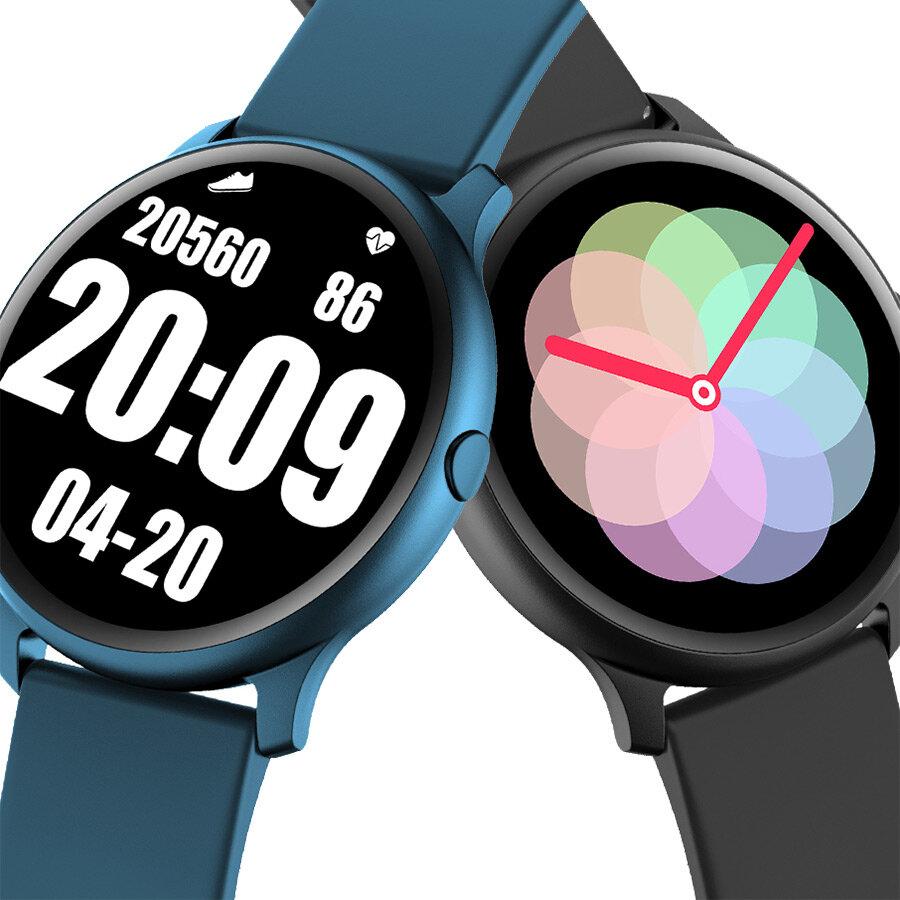KINGWEAR KW13 1.2inch AMOLED 390*390ppi 3.5D Cure Screen E-compass 24h Heart Rate Monitor BOSH Pedometer BTV5.0 Smart Watch
