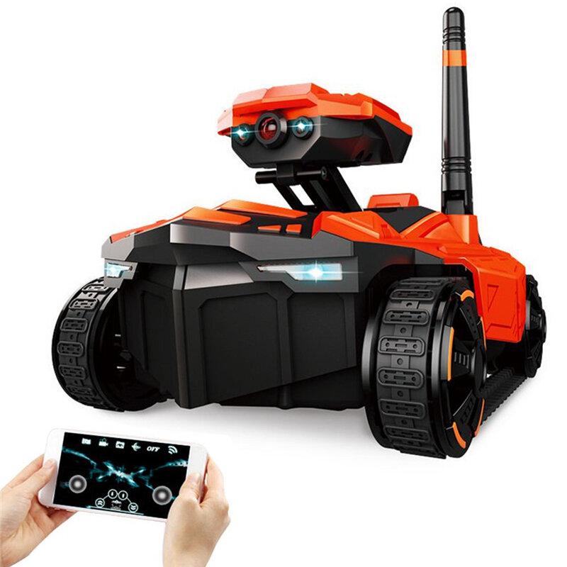 RC Car Tank YD-211 Wifi FPV 0.3MP App Remote Control Toy Phone Controlled Robot Toys