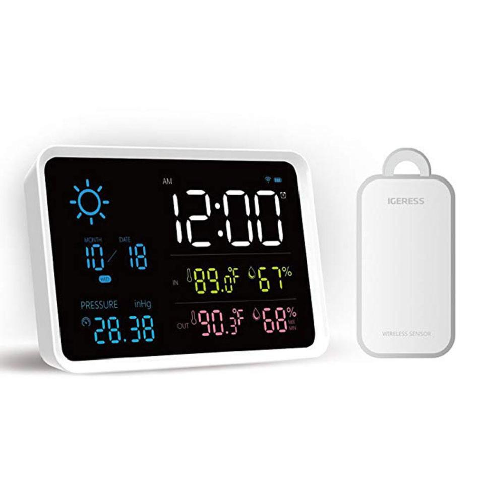 YUIHome Indoor Outdoor Digital Weather Station Temperature And Humidity Display Atmospheric Pressure Weather Forecast Alarm Clock from Xiaomi Youpin