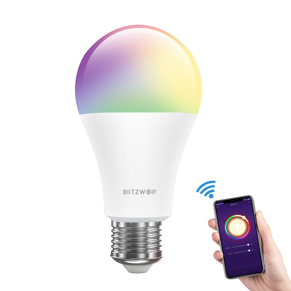 BlitzWolf® BW-LT21 RGBWW 10W E27 APP Smart LED Light Bulb Work With Amazon Alexa Google Assistant AC100-240V
