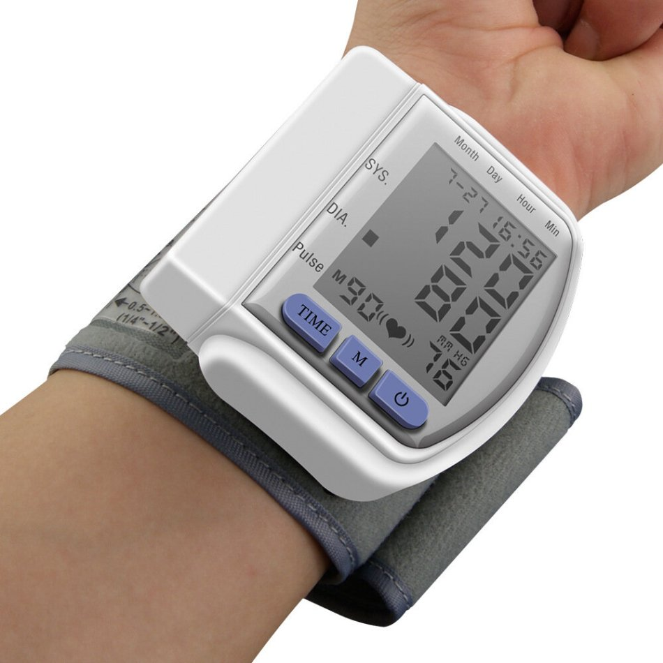Boxym Digital Wrist Blood Pressure Monitor LCD Automatic Household Heart Beat Monitor Meter Pulse Meter Health Pulse Measure Health Care
