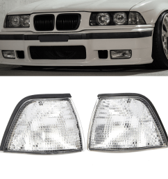 corner lights side lights for bmw e36 3 series 2dr coupe convertible clear lens cod [ 1200 x 1200 Pixel ]