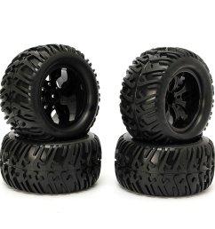 4pcs wheel rim tires hsp 1 10 monster truck rc car 12mm hub 88005 cod [ 1200 x 1200 Pixel ]
