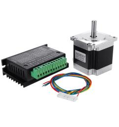 nema 23 23hs5628 2 8a two phase 6 35mm shaft stepper motor with tb6600 stepper motor driver for cnc part 3d printer cod [ 1000 x 1000 Pixel ]
