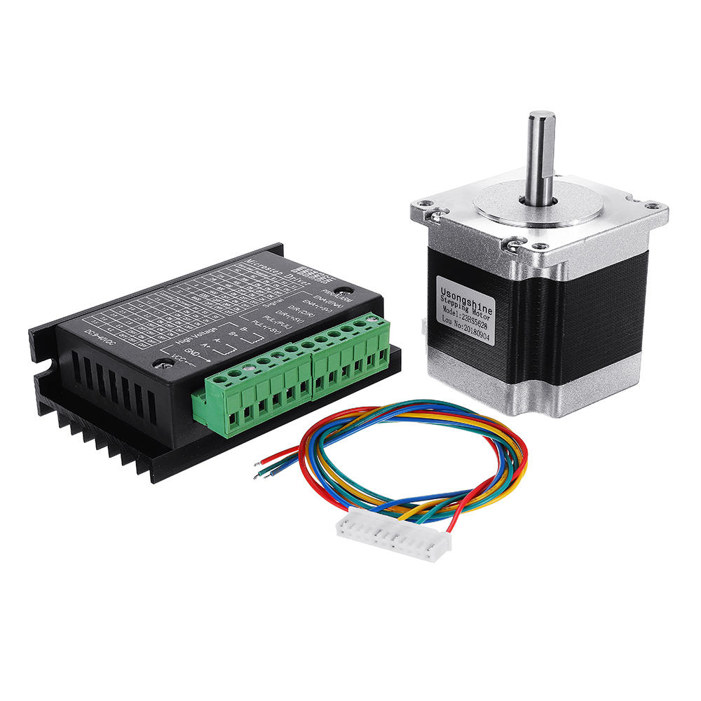 medium resolution of nema 23 23hs5628 2 8a two phase 6 35mm shaft stepper motor with tb6600 stepper motor driver for cnc part 3d printer cod