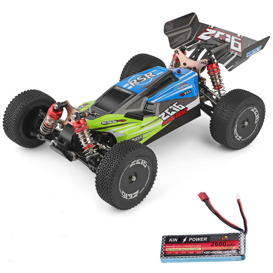 Wltoys 144001 1/14 2.4G 4WD High Speed Racing RC Car Vehicle Models 60km/h Upgraded Battery 7.4v 2600mah