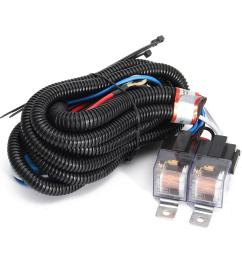car 12v h4 4 lamp bulb headlight wire wiring harness ceramic relay socket adapter cod [ 1200 x 1200 Pixel ]
