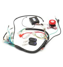 wiring harness start switch coil loom remote speaker 50cc 70cc 125cc 50cc atv wiring harness [ 1200 x 1200 Pixel ]