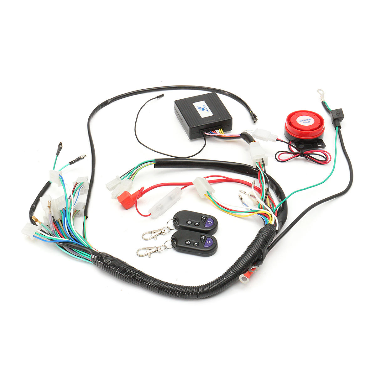 hight resolution of wiring harness start switch coil loom remote speaker 50cc 70cc 125cc 50cc atv wiring harness