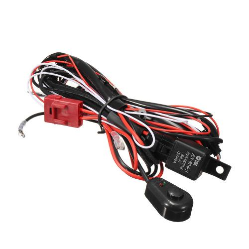 small resolution of wiring harness kit 12v 40a 300w fuse relay on off switch for led work fog light bar cod