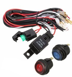40a 12v led light bar wiring harness relay on off switch for jeep 40a 12v led [ 1200 x 1200 Pixel ]