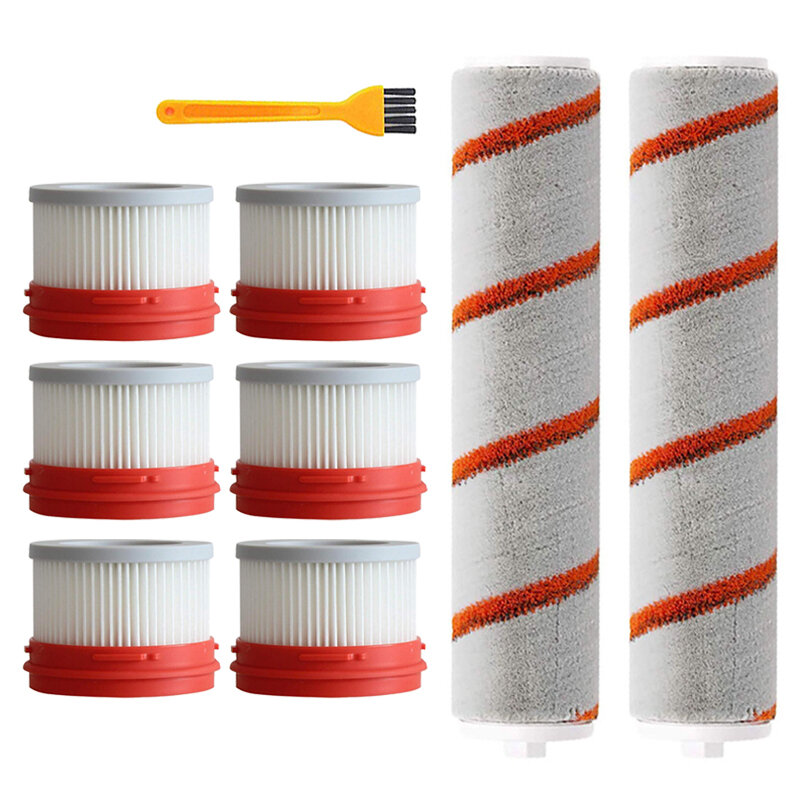 9pcs HEPA Filter For Xiaomi Dreame V9 Wireless Handheld Vacuum Cleaner Accessories Hepa Filter Roller Brush Parts Kit COD