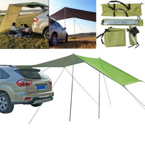 Στα 31,61€ από αποθήκη Κίνας | 210D Oxford Cloth Car Side Awning Rooftop Tent Waterproof UV-proof Sunshade Canopy Outdoor Camping Travel