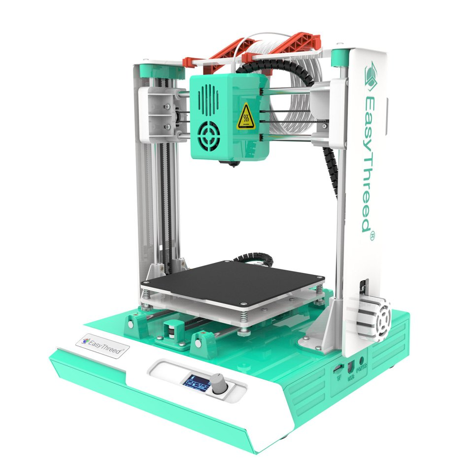 Easythreed® K2 Plus 3D Printer Kit 100X100X100mm Print Size with Hotbed/LCD Screen Control/Larger Axis Motor