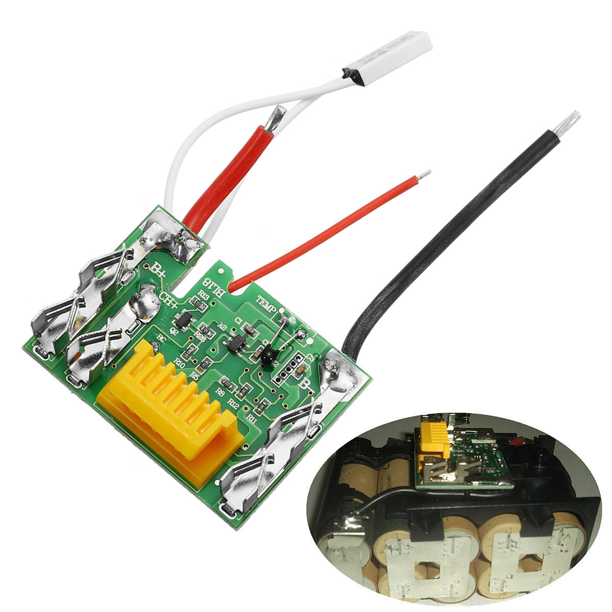 hight resolution of 18v li ion battery protection circuit module board for makita drill cod