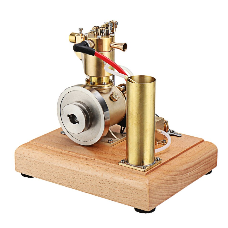 Eachine EM4 Gasoline Engine Model Stirling Water-cooled Cooling Structure With A Cooling Water Tank And A Circulating Gear Pump
