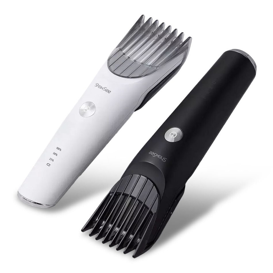 ShowSee C2-W/BK Electric Hair Clipper Portable Household USB Charging Hari Cut Machine IPX7 Waterproof Ceramic Steel Cutter From Xiaomi Youpin