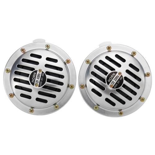 small resolution of 12v 115db chrome car horn grill mount compact super loud blast tone 320 430hz cod
