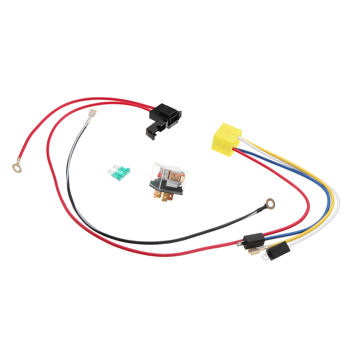 hight resolution of 12v dual tone electric air horn wiring harness relay for car truck van train boat universal cod
