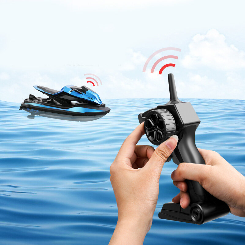 JJRC S9 1/14 2.4G Motorcycle Double Motor Two Speed Vehicle RC Boat Remote Control Boat Models Outdoor Toys for Boy Kid Gift