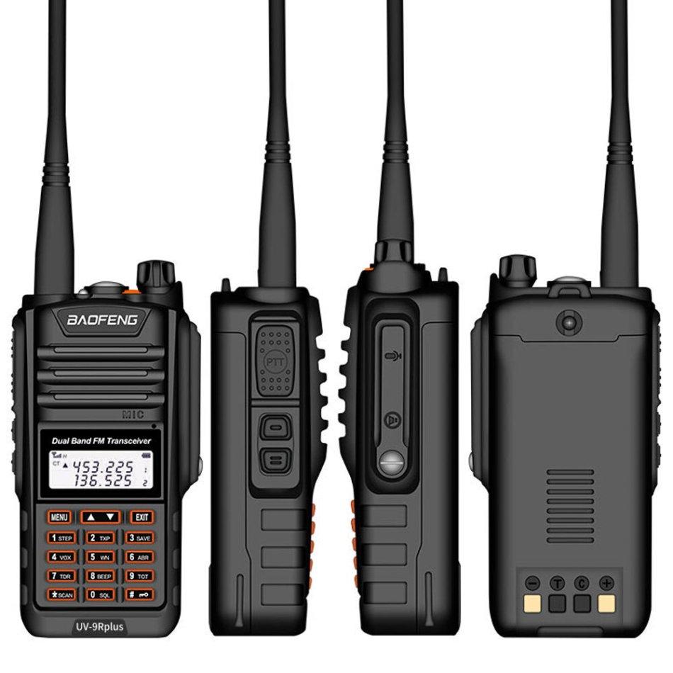 BAOFENG BF-UV9RPLUS 18W 128 Channels 400-520MHz Dual Brand Two Way Handheld Radio Walkie Talkie IP68 Waterproof Interphone