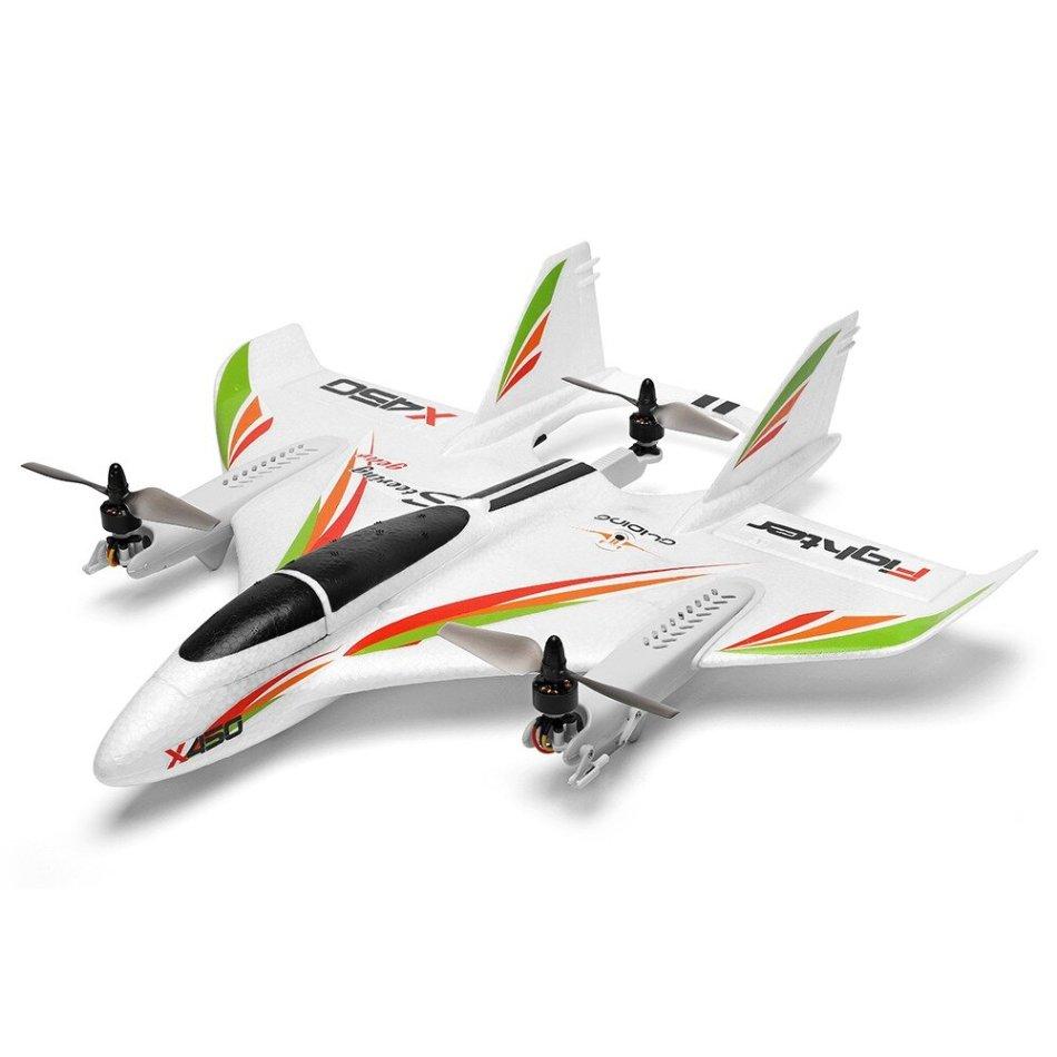 XK X450 VTOL 2.4G 6CH EPO 450mm Wingspan 3D/6G Mode Switchable Aerobatics RC Airplane RTF