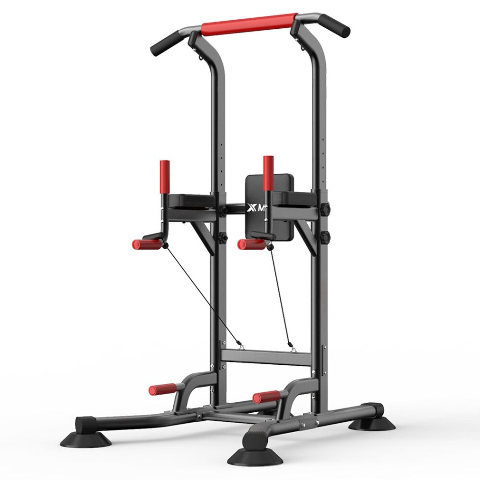 XMUND XD-PT1 Multifunctional Pull Up Dip Station Power Tower Traction Horizontal Bar Strength Training Fitness Exercise Home Gym
