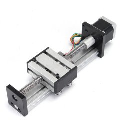 100mm long stage actuator linear stage 1204 ball screw linear slide stroke with 42mm stepper motor cod [ 1200 x 1200 Pixel ]