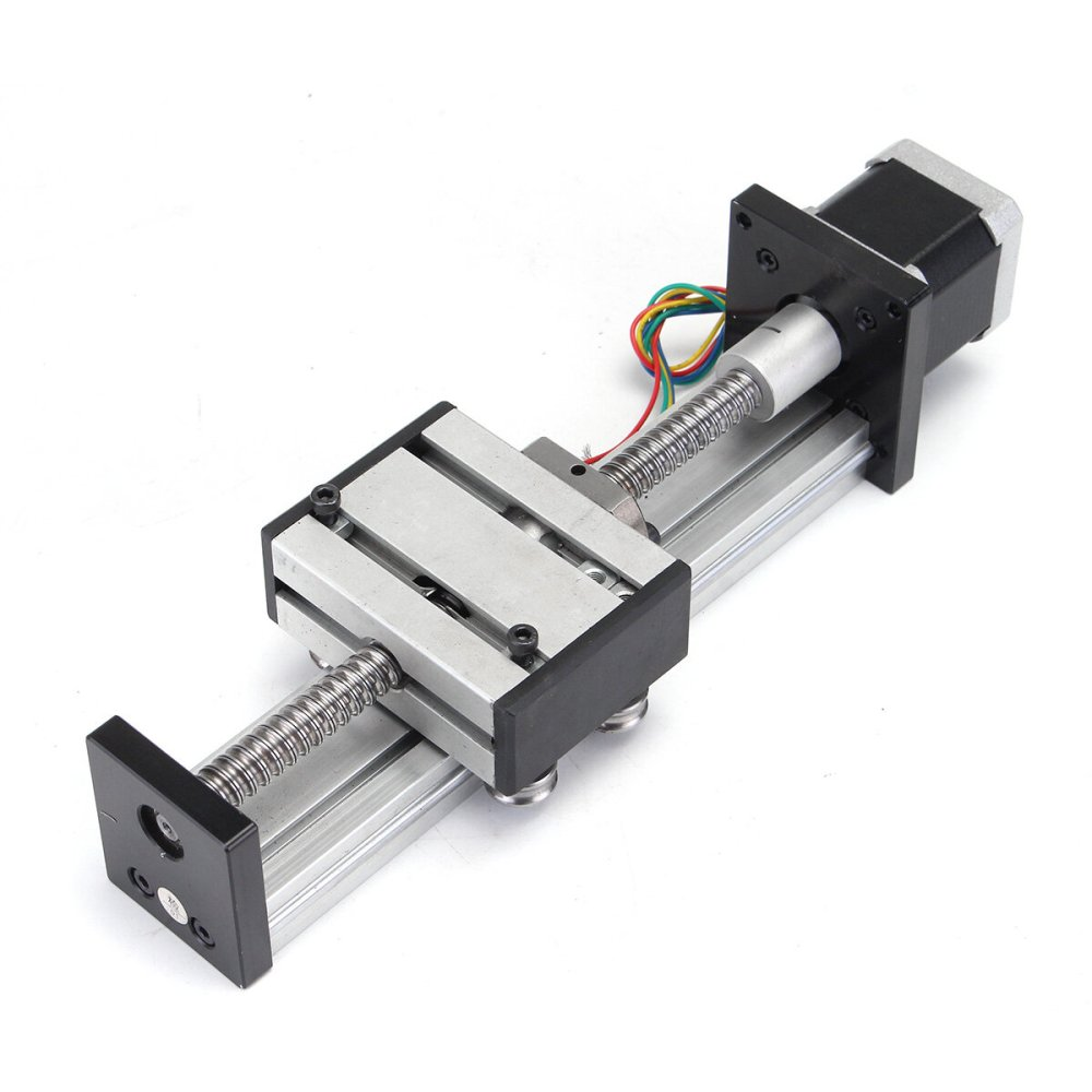 medium resolution of 100mm long stage actuator linear stage 1204 ball screw linear slide stroke with 42mm stepper motor cod