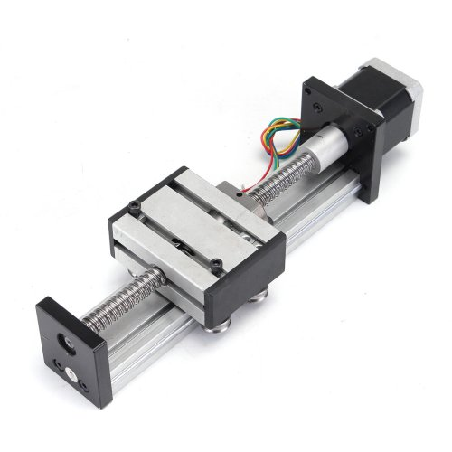 small resolution of 100mm long stage actuator linear stage 1204 ball screw linear slide stroke with 42mm stepper motor cod