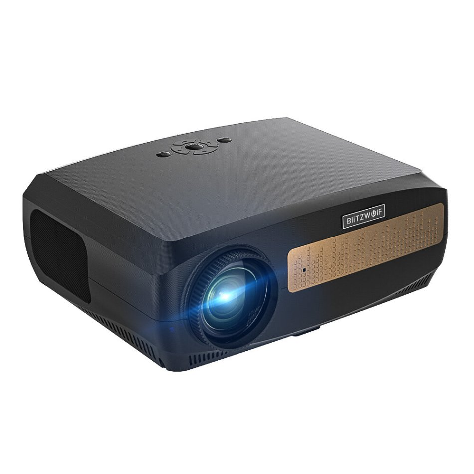 BlitzWolf®BW-VP9 Android 9.0 LCD Portable Projector Full HD Native 1920x1080 Pixels 6500 Lumens Bluetooth Voice Control for Original Google Play YouTube Netflix Digital Keystone Correction Up to 200-Inch Reflect Light Home Theater Outdoor Movie