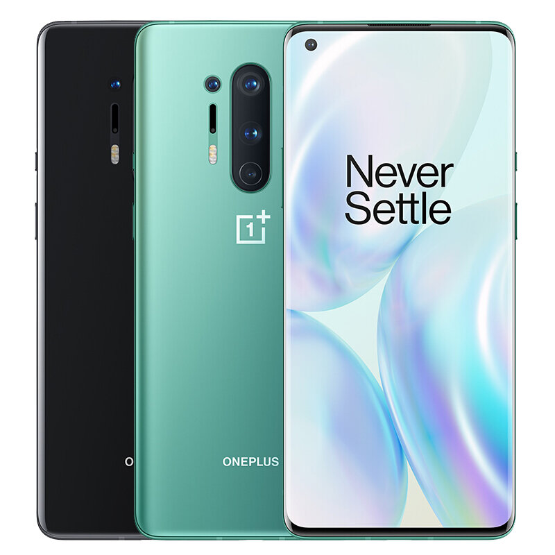 OnePlus 8 5G Global Rom 6.55 inch FHD+ 90Hz Refresh Rate NFC Android10 4300mAh 48MP Triple Rear Camera 8GB 128GB Snapdragon 865 Smartphone