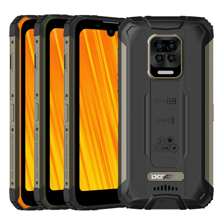 DOOGEE S59 Pro Global Bands IP68&IP69K Waterproof 5.71 inch HD+ 10050mAh Super Battery NFC Android 10.0 4GB 128GB Helio P22 Octa Core 4G Smartphone