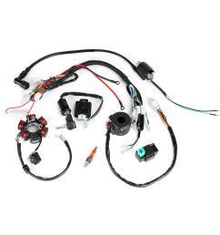 50cc 125cc mini atv complete wiring harness cdi stator 6 coil pole stator wiring harness [ 1000 x 1000 Pixel ]