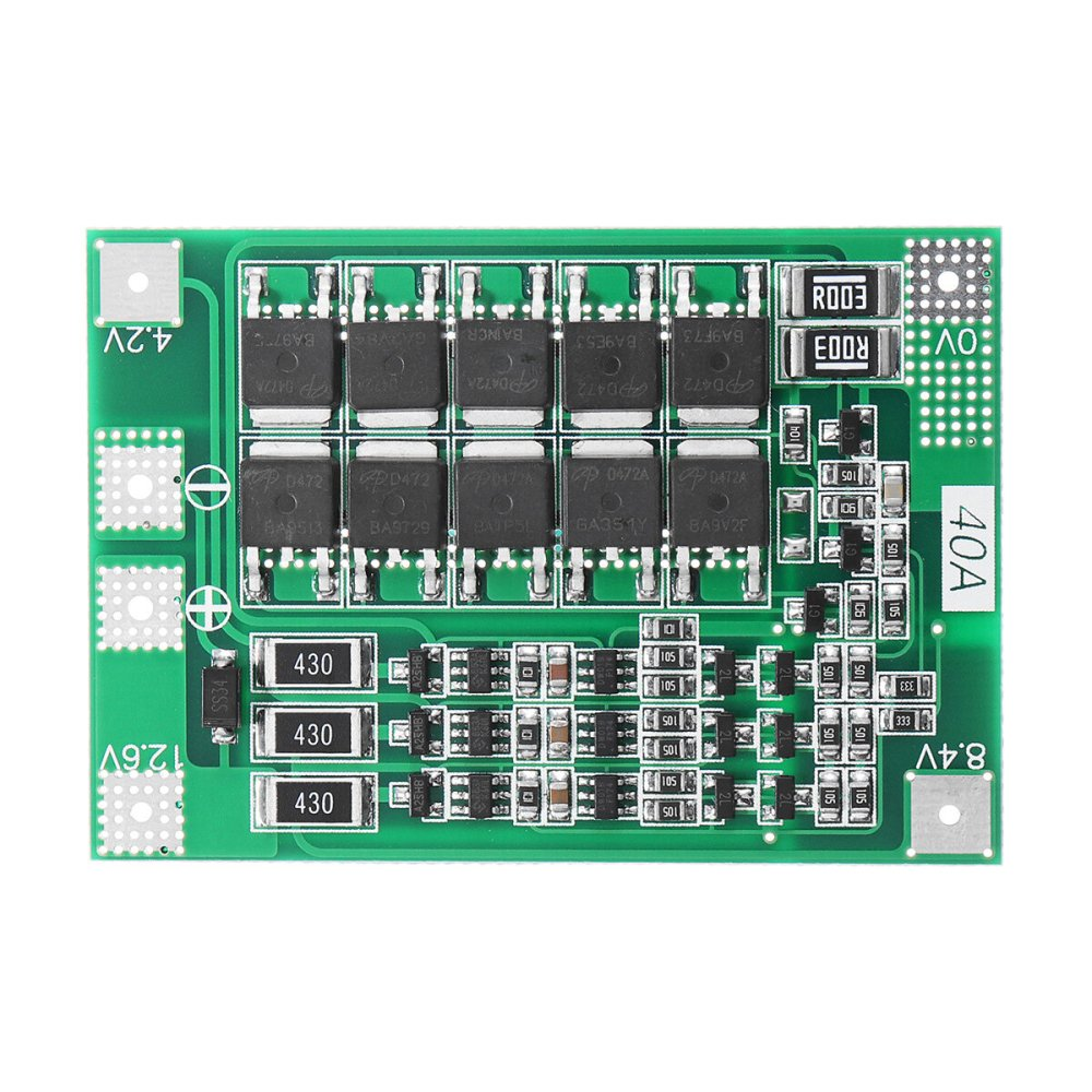 medium resolution of 3s 40a li ion lithium battery charger protection board pcb bms for drill motor 11 1