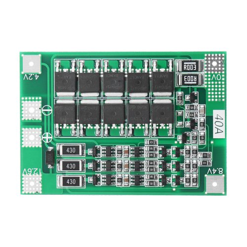 small resolution of 3s 40a li ion lithium battery charger protection board pcb bms for drill motor 11 1