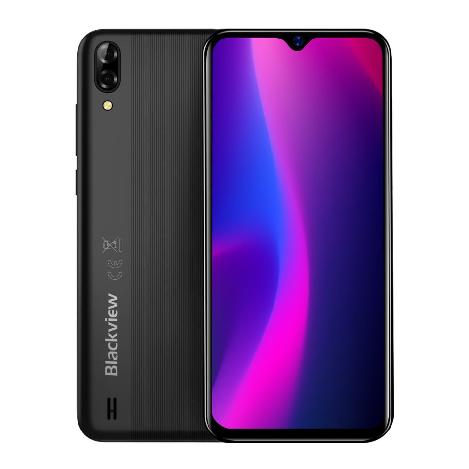 Blackview A60 6.1 inch 19:9 Waterdrop Screen 4080mAh Android 8.1 1GB RAM 16GB ROM MT6580A Quad Core 3G Smartphone