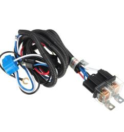 12v 7inch h4 headlight 2 headlamp relay wiring harness light socket plug connector cod [ 1200 x 1200 Pixel ]